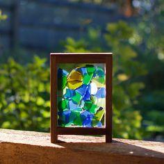 Suncatcher Freestanding Sea Glass Kaleidoscope