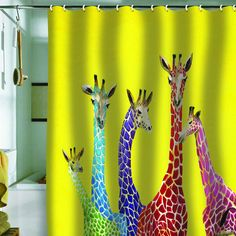 DENY Designs Home Accessories | Clara Nilles Jellybean Giraffes Shower Curtain