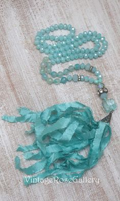 Designer Saree CLICK Visit link above to read Tassel Jewelry, Etsy Jewelry, Tassel Necklace, Turquoise Necklace, Handmade Jewelry, Necklaces, Bracelets, Mermaid Necklace, Sari Silk