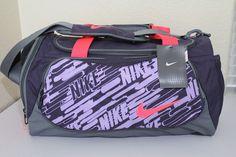 Nike small unisex duffel gym bag purple 20