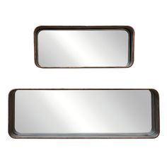 You'll love the 2-Piece Melody Rectangle Large Wall Mirror Set at Joss & Main - With Great Deals on all products and Free Shipping on most stuff, even the big stuff.