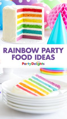 Throwing a rainbow themed party? Organise a colourful buffet with our rainbow party food ideas - including amazing rainbow cakes, easy rainbow cupcakes and more! Perfect for a kids birthday party.