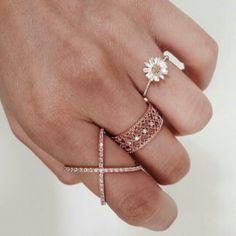 Lovely, simple, feminine rings #beuniki