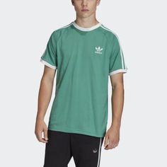 Camiseta 3 bandas Adidas Retro, Polo Shirt, T Shirt, Adidas Originals, Mens Tops, Fashion, Shopping, Sport T Shirts, Athletic Style