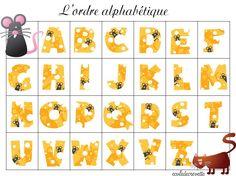 Atelier autour des lettres de l'alphabet