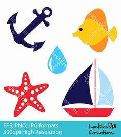 Nautical Digital Clip Art (FREE)This is a set of full color FREE digital clip art for all teachers! They are great for graphic projects, classroom activities, bulletin boards decoration, worksheets design, handicraft and more! | by Lockless Creations