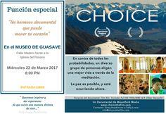 El Museo de Guasave te invita a la proyección del documental: CHOICE. Miércoles 22 de marzo de 2017 en el Museo de Guasave, a las 20:00 horas. Entrada libre.