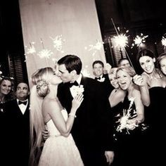 Sparkler exit with a kiss.  Tessa and AJ - Andrejka Photography