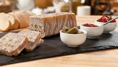 Don& be put off by making a terrine - they& really easy once you know how. Equipment and preparation: You'll need a litre& pint lidded terrine mould Country Terrine Recipes, Pate Recipes, Mousse, Pork Liver Pate Recipe, Charcuterie, My Favorite Food, Favorite Recipes, Pork