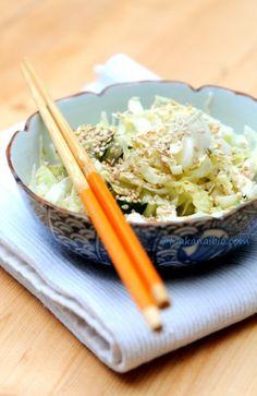 Salade chou pointu vinaigrette au tahin - Mon déjeuner aujourd'hui ;)