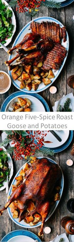 Orange Five-Spiced Roast Goose and Potatoes recipe by the Woks of Life