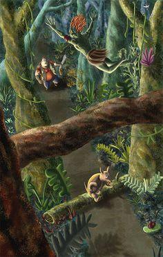 O Curupira não tem pena dos caçadores maldosos, principalmente dos que matam filhotes. Quando vê um caçador que mata por prazer, judia tanto dele, mas tanto, que o coitado, se não morre, fica louco para sempre. Para proteger os animais, ele usa mil artimanhas, procurando iludir o caçador: gritos, assobios, gemidos. O caçador pensa que é um animal ou uma ave e vai atrás do Curupira. Quando percebe, está perdido na floresta.