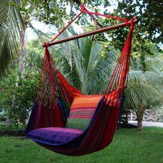 Lazy Rezt hangstoel in een schitterende kleur