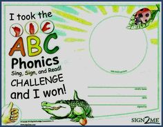 Honor children for mastering the ABC Phonics skills by giving them this certificate with their photo. Find it as a free download with the ABC Phonics: Sign, Sign, and Read! program. Use fingerspelling with any ABC phonics program for powerful results.