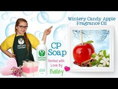 Soap Testing Wintery Candy Apple Fragrance Oil- Natures Garden #naturesgarden #fragranceoils #winterycandyapple #cpsoap #coldprocesssoap #soaptesting #applescent #soapvideos