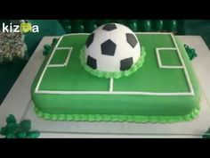 "Get wonderful ideas on ""birthday desserts easy"". They are actually on call for you on our site. Soccer Birthday Parties, Soccer Party, Bolo Sporting, Football Themed Cakes, Easy Birthday Desserts, Soccer Ball Cake, Pizza Cake, Cake Stencil, Sport Cakes"