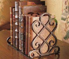 Antique Bronze Metal Bookends