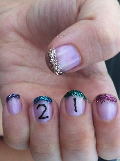 21st birthday nails! Cute Toe Nails, Cute Toes, Pretty Nails, 21st Birthday Nails, Birthday Bash, Birthday Makeup, Birthday Ideas, Partying Hard, Toe Nail Designs