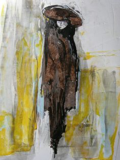 By Jane Monica Tvedt Surrealism Painting, Brown Art, Acrylic Paintings, Portraits, Ink, Drawings, Artist, Head Shots, Artists