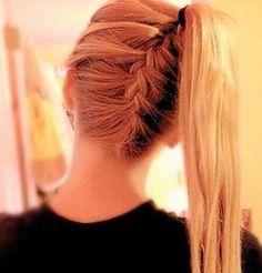 Flettet hår