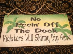 Bar sign docks sign lake house sign skinny dip by KerriArt on Etsy, $9.99