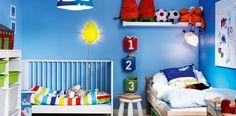 Aprende a usar los colores en la habitaciones de tu hogar. Los pequeños son capaces de convertir una pared azul, en un mar, o una verde en el amazonas