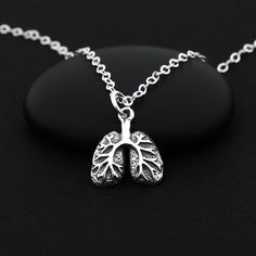Lung Necklace Lung Jewelry Lung Cancer Necklace by BijouBright