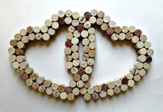 Wine Cork Heart Wall Decor Two Intertwined Hearts Wedding