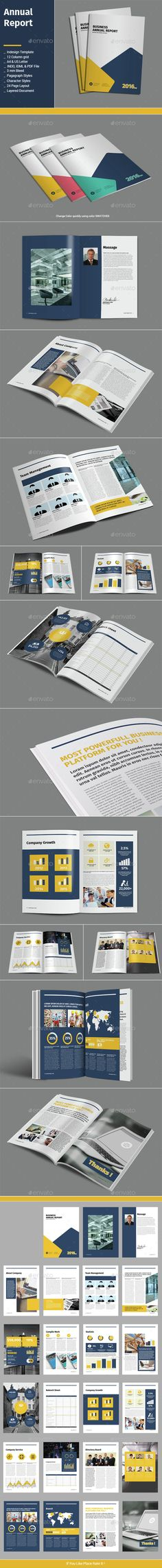 Annual Report Square Template 2 Annual reports, Template and Squares - annual report template design