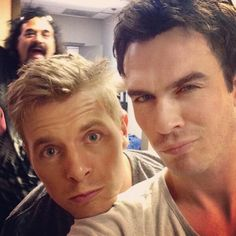 Ian Somerhalder and Rick Cosnett. TVD.