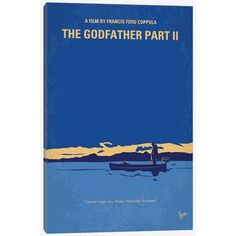 """East Urban Home 'The Godfather: Part II Minimal Movie Poster' by Chungkong Vintage Advertisement on Wrapped Canvas Size: 18"""" H x 12"""" W x 0.75"""" D"""