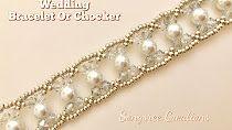 (126) YouTube Handmade Beaded Jewelry, Beaded Jewelry Patterns, Wire Jewelry, Pearl Jewelry, Wedding Jewelry, Jewelry Bracelets, Jewellery, Bracelet Tutorial, Beads And Wire