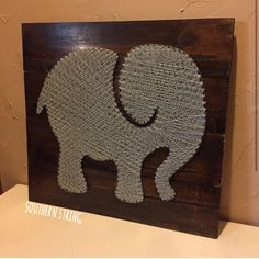 Elephant string art for a nursery!