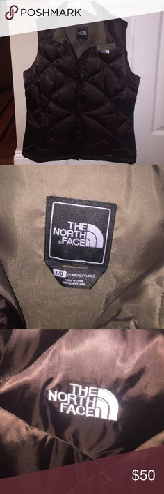 North Face women's chocolate brown vest Barely worn vest in absolutely perfect condition!! Perfect to throw over a sweater or sweatshirt with any type of pants. Super comfy and warm!! The North Face Jackets & Coats Vests