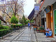 Aeolou Street at Agia irini Athens City, Athens Greece, Archaeological Site, City Streets, The Neighbourhood, Street View, Island, Explore, Architecture