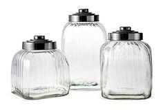 S/3 Assorted Glass Canisters on OneKingsLane.com