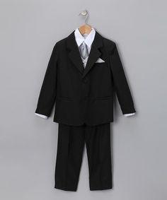 This LA Sun Black & Gray Tuxedo Set - Infant, Toddler & Boys is perfect! #zulilyfinds
