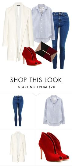"""""""Fashion 101: Jeans"""" by josehline on Polyvore featuring Topshop, Frank & Eileen, The Row, Gianvito Rossi and Dune"""