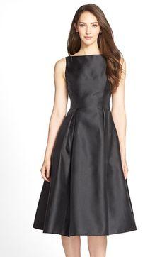 79c4643adfdb2 Adrianna Papell Sleeveless Mikado Fit   Flare Midi Dress (Regular   Petite)