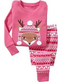 Deer-Graphic PJ Sets for Baby Product Image Baby Girl Pajamas, Girls Pajamas, Pajamas Women, My Baby Girl, Pajama Outfits, Toddler Outfits, Kids Outfits, Toddler Girl, Baby Kids
