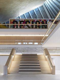 The Design Museum Design Museum London, Marble Staircase, Restaurant 2, Stair Design, External Lighting, John Pawson, Interior Stairs, Media Design, Atrium
