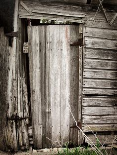 weathered barn doors will be used for screens and back drops. Farm Door, When One Door Closes, Cool Doors, Old Farm, Covered Bridges, Old Buildings, The Ranch, Country Life, Country Living
