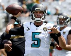 Blake Bortles #5 warms up during a game against the Green Bay Packers at EverBank Field on Sept. 11, 2016 in Jacksonville.