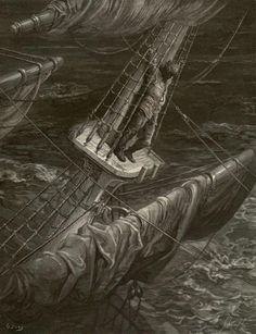 "Gustave Doré, Illustration to Samuel Taylor Coleridge's poem ""The Rime of the Ancyent Marinere"", 1875"