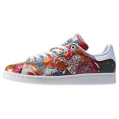 adidas Stan Smith W, Sneakers Basses Femme, Multicolore (Ftwwht/Ftwwht/Owhite), 41 1/3 EU