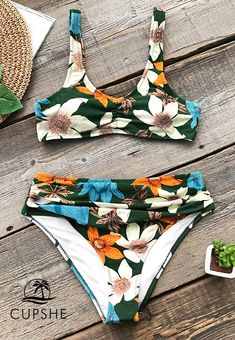 c247a0ebd The don t-miss print bathing suit. Combination of tank top and high
