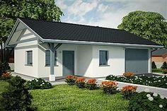 Projekt garażu G239 - Budynek garażowo - gospodarczy 56,5 m2 - koszt budowy - EXTRADOM Shed, Outdoor Structures, Barns, Sheds