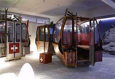 Cool individual work pods at Google Zurich