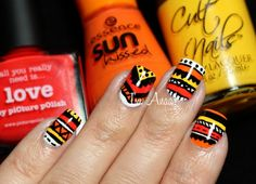 Tri Polish Tuesdays - ROY #02 : Aztec Nails by I'm A Nail Art Addict!