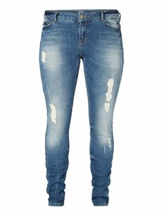 Cool destroyed jeans from JUNAROSE. #junarose #jeans #cool #raw #denim #plussize #fashion